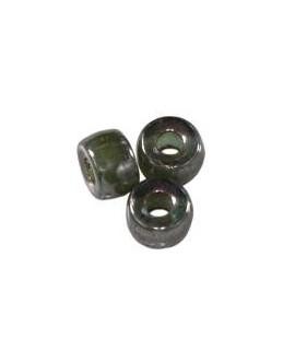 Cuenta cristal checo loops amethyst luster 6 mm paso 2,4mm, precio por 25 unidades