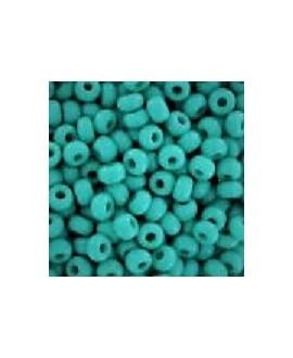 Abalorio turquesa opaco/brillo 2mm paso 1mm, precio por 20gr