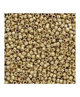 Abalorio dorado opaco/brillo 15/0, precio por 20gr