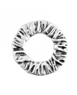 Aro labrado diámetro 40mm, zamak baño de plata