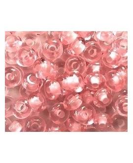Donut resina rosa, 4x8mm paso 2,5mm, precio por 30 unides
