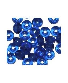 Donut resina azulón, 5x9mm paso 3mm, precio por 30 unidades