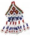 Borla tribal kuchi con cuentas triangulo, 7,5cm