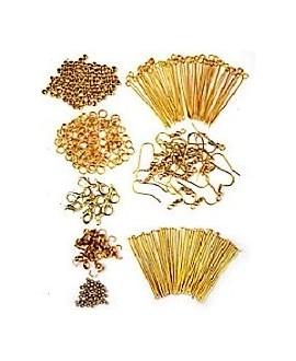 Kits cuentas para joyería, metal doradas