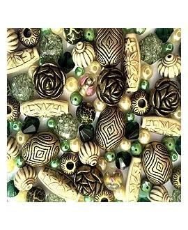 Kits Green Goddess de cuentas acrílicas, 60gr