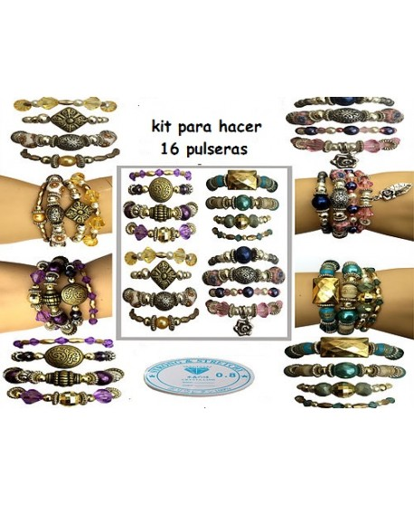 Kit para hacer 16 pulseras