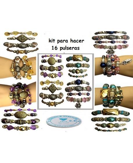 0413831e2732 Kit para hacer 16 pulseras