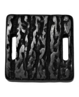 Entre-pieza resina 40mm paso 2 agujeros oval, negro