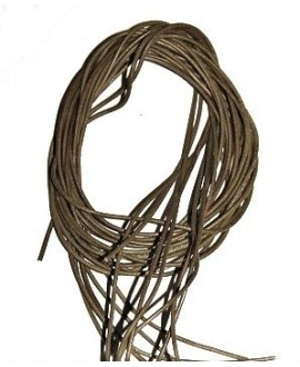 Cuero 1,5mm oliva Calidad superior, precio por tiras de 1 metro