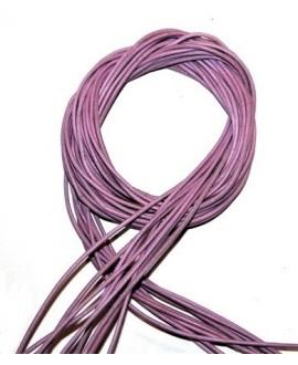 Cuero 1,5mm rosa Calidad superior, precio por tiras de 1 metro