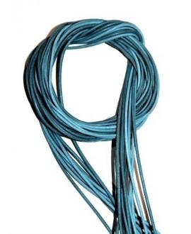 Cuero 1,5mm turquesa Calidad superior, precio por tiras de 1 metro