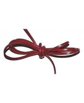 Cuero 4x1,5mm rojo Calidad superior, precio por tiras de 1 metro