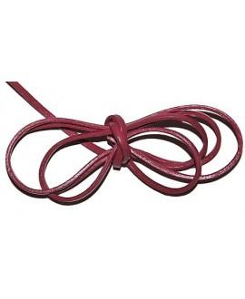 Cuero 4x1,5mm rosa Calidad superior, precio por tiras de 1 metro