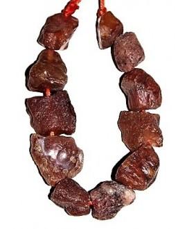 Cornalina piedra natural sin pulir 20/25x5/20mm, precio por ristra