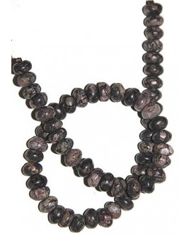 Rhodonite natural rondel 4x8mm, precio por ristra