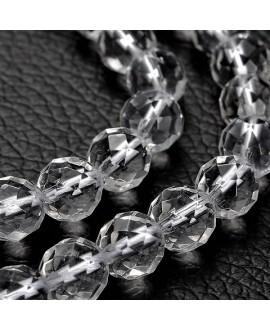 Cuarzo cristal facetado, 6mm, hilo de 40cm
