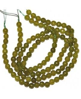 Cuentas jade facetado verde pistacho 6mm, precio por ristra
