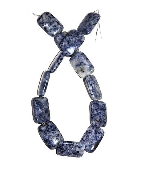 Cuenta rectángulo 30x20mm Blue Spot  jaspe, precio por ristra