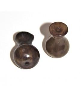 Cuentas  jade para joyería budista 28mm paso 1mm