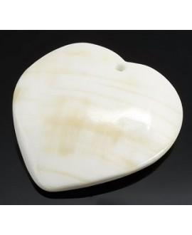 Colgante corazón natural 50x45mm paso 2mm