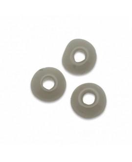 Donut de vidrio gris claro 6mm paso 2mm, precio por 50 unidades
