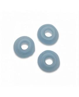 Donut de vidrio light saphire 6mm paso 2mm, precio por 50 unidades