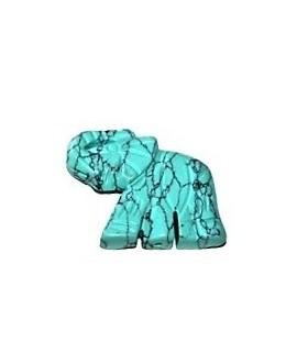 Turquesa entre-pieza elefante 32x40mm, paso 1mm