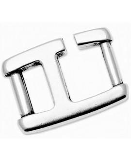 Cierre en forma de hebilla 26x19mm paso 10mm, zamak baño de plata