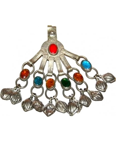 Colgante  tribu kuchi con cristales