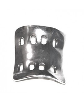 Pulsera doble pieza 45x40mm paso 5/6mm, zamak baño de plata