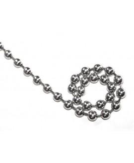 Cadena bolas 10mm, precio por 50cm, baño de plata