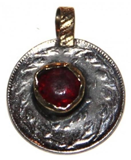 Moneda cristal rojo tribu kuchi 22mm