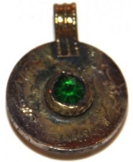Moneda cristal  verde tribu kuchi, 22mm