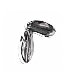 Entre-pieza irregular paso 1mm, zamak baño de plata, precio por 24 piezas ( 2 pulsera completa)