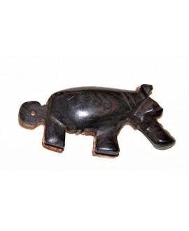 Colgante ébano hipopotamo 30x70x1,5mm, Malí