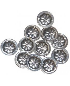 Moneda para cocer, 22mm, dos agujeros, precio por 25 unidades
