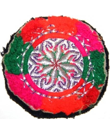 Medallón kuchi bordado, 9,5cm