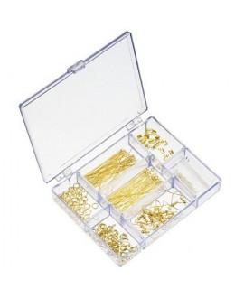 Kits para joyería incluye caja de cuentas - chapado en oro