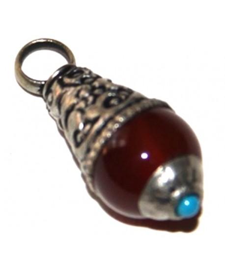 Colgante cornalina, 9-11mm de ancho x 25-27mm de largo
