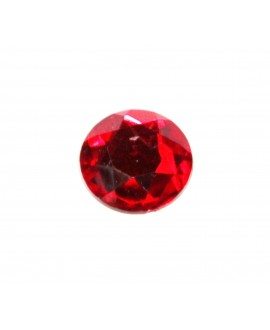 Cabujón acrílico  rojo 20mm