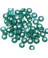 Rondel cristal indio azul petroleo 5/6x2,5/3mm paso 3mm, precio por 25 unidades