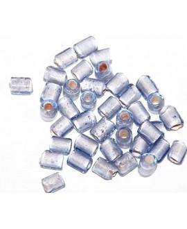 Tubo cristal indio azul 5/6x4/5mm paso 3mm, precio por 20 unidades