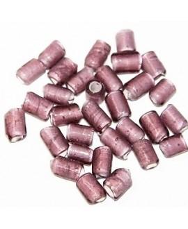 Tubo cristal indio lila 5/6x4/5mm paso 3mm, precio por 20 unidades