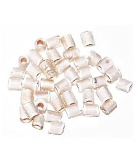 Tubo cristal indio blanco 5/6x4/5mm paso 3mm, precio por 20 unidades