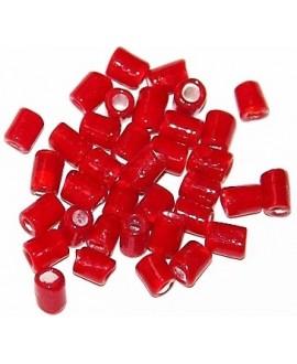 Tubo cristal indio rojo 5/6x4/5mm paso 3mm, precio por 20 unidades