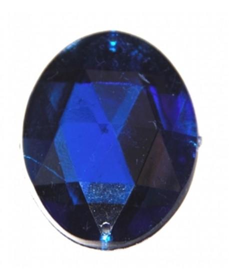 Cabujón acrílico azul 40x30mm, para coser o pegar