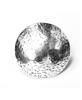 Anillo ajustable, zamak baño de plata