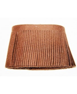 Fleco de antelina color marrón medio de 5x100cm