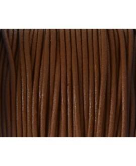Cuero redondo 2mm, marrón medio. Calidad superior, precio por metro