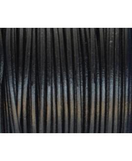 Cuero redondo 2mm, negro. Calidad superior, precio por metro
